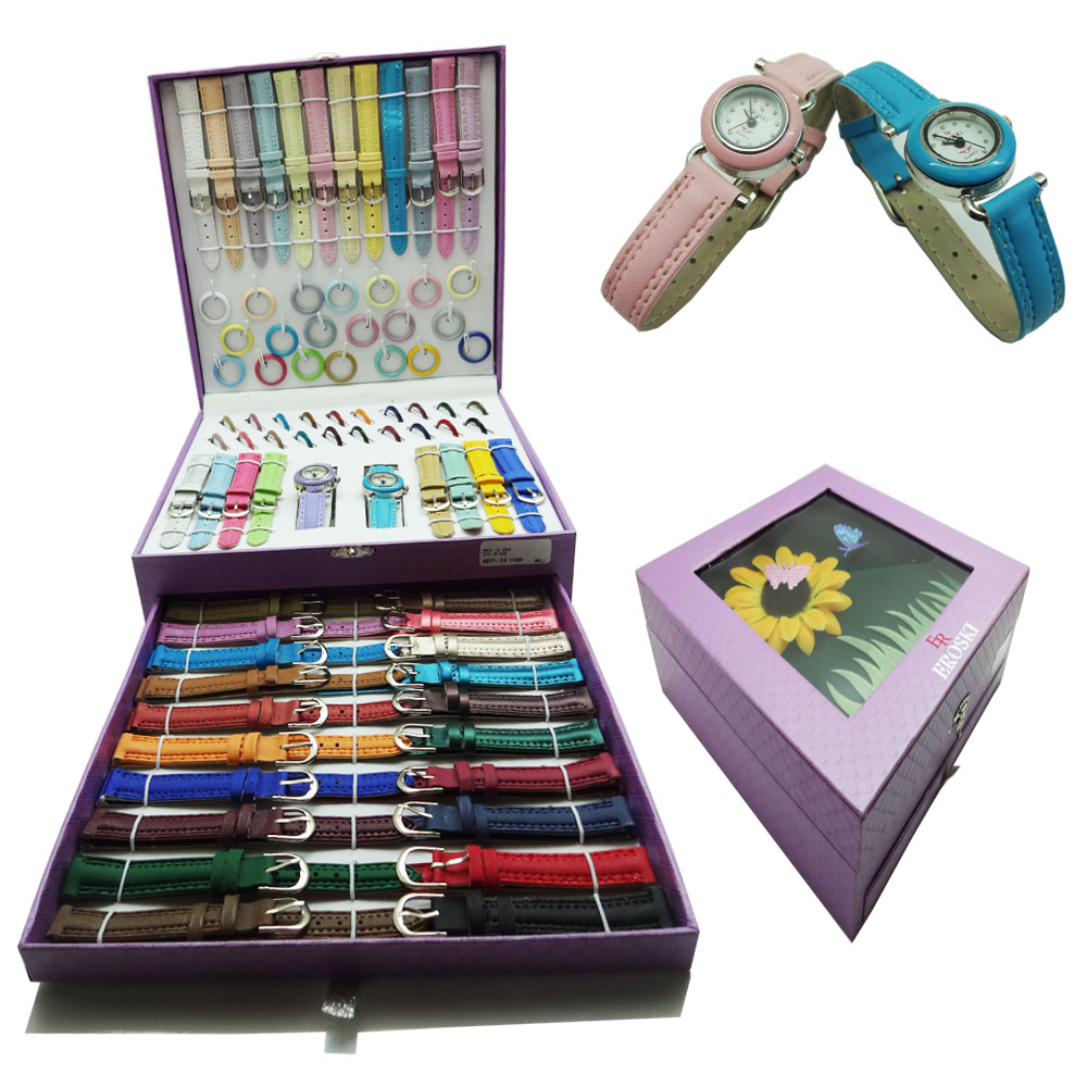 Interchangeable Watch Set (41 Straps & Rings)
