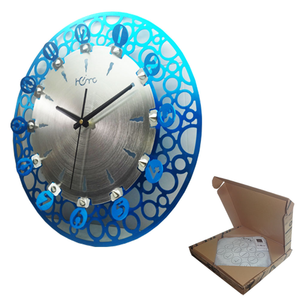 BUBBLES BLUE WALL CLOCK