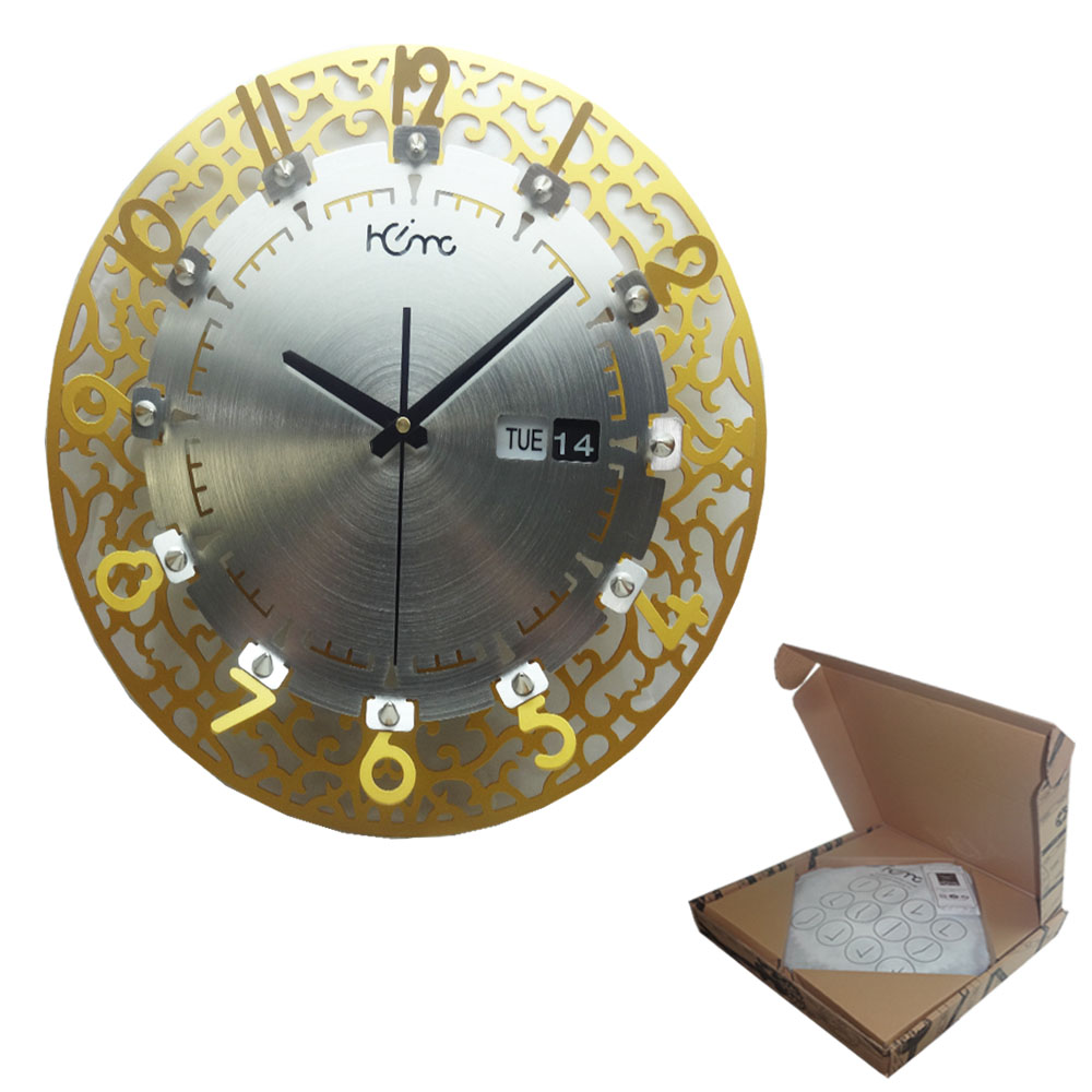 CROWN GOLD WALL CLOCK