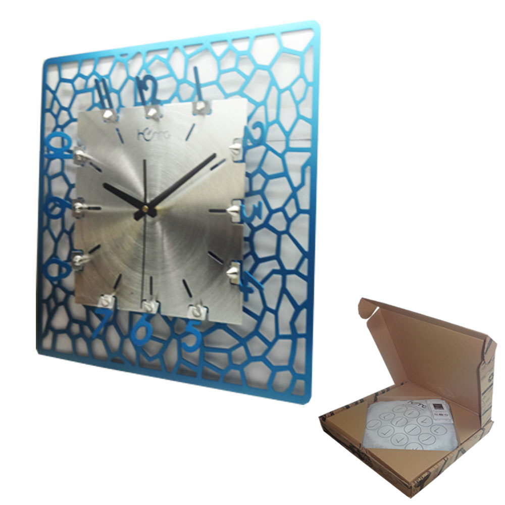 Artime Water Cube Blue Wall Clock
