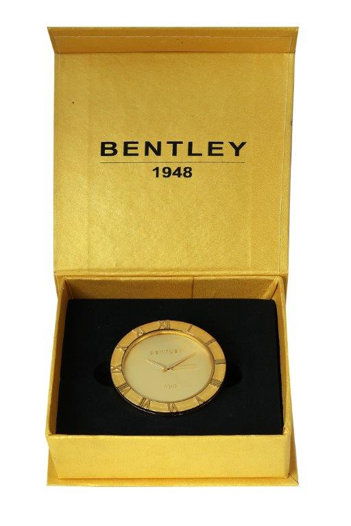 Bentley 1948 Single Gold Plated Table Clock
