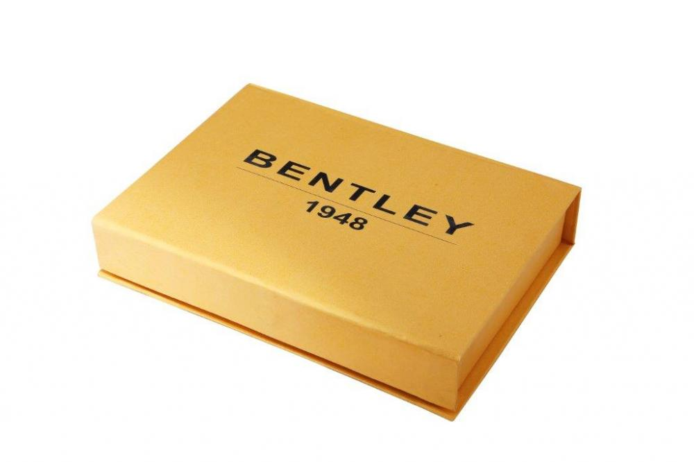 BENTLEY GOLD PLATED - TABLE CLOCK & PEN COMBO